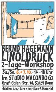 Promo für Linoldruck-Workshop Bernd Hagemann