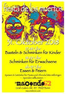 """Poster für """"fiesta de los muertos 2018"""""""