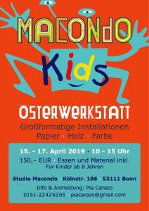 Poster Osterwerkstatt macondoKids