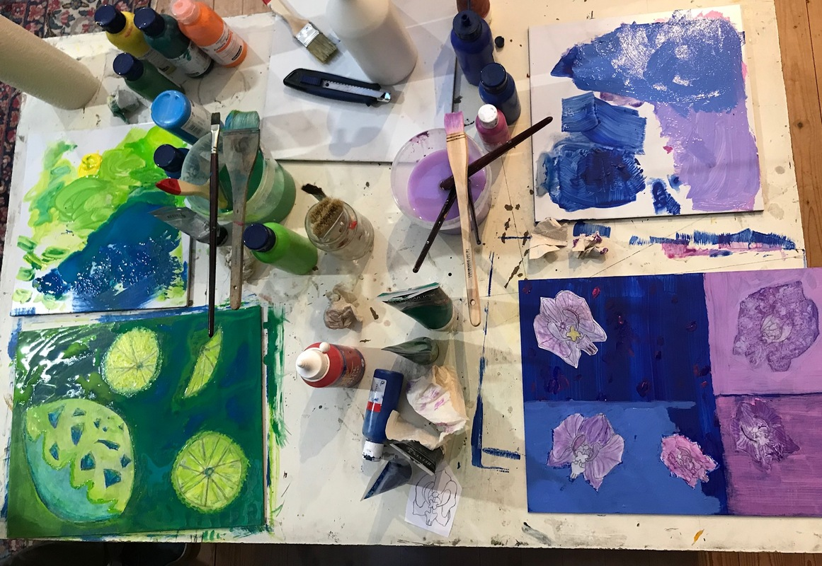 Arbeitstisch Chill & Paint 6.6.2019 (c) Pía Carazo